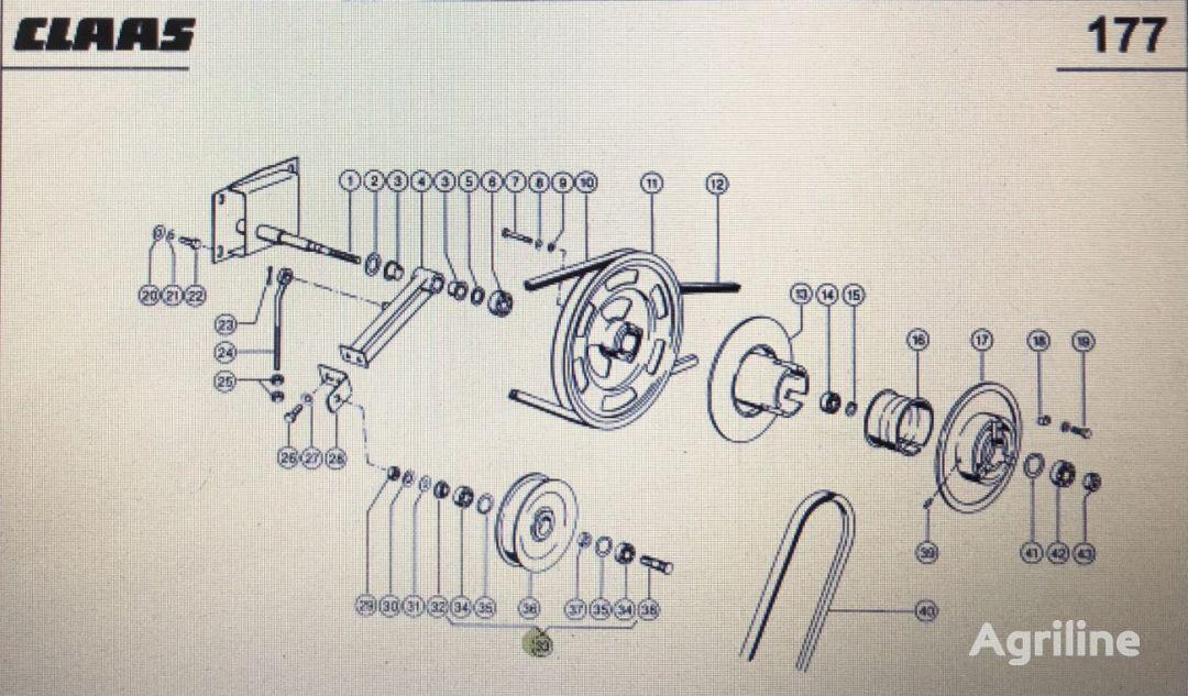 (000 629 278) belt tensioner for CLAAS Mega 370-340  tractor