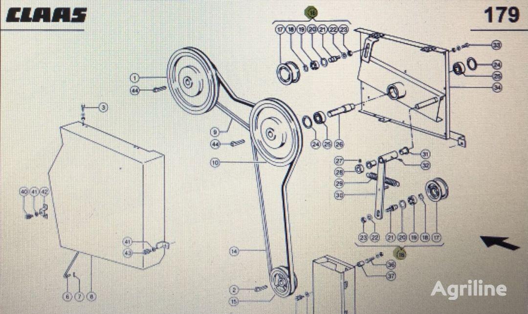 (000 772 116 1) belt tensioner for CLAAS Mega 370-340 tractor