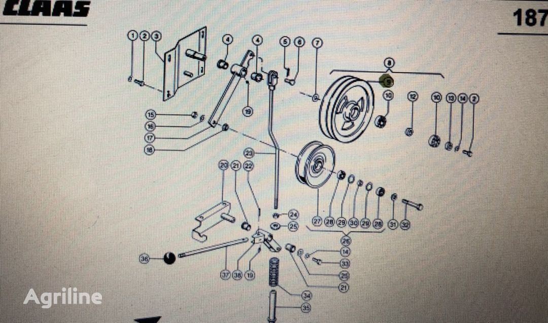(000 544 179 0) belt tensioner for CLAAS Mega 370-340  tractor