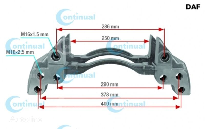 KNORR-BREMSE XF95 (01.02-12.06) brake caliper for DAF XF95/XF105 (2001-) truck