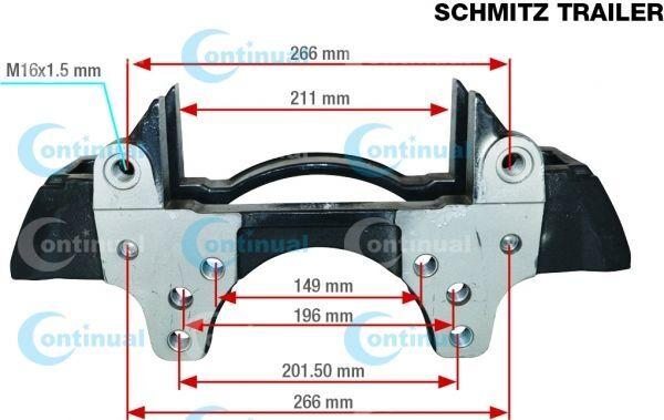 SCHMITZ CARGOBULL K012634.SK7052RC brake caliper for SCHMITZ CARGOBULL semi-trailer