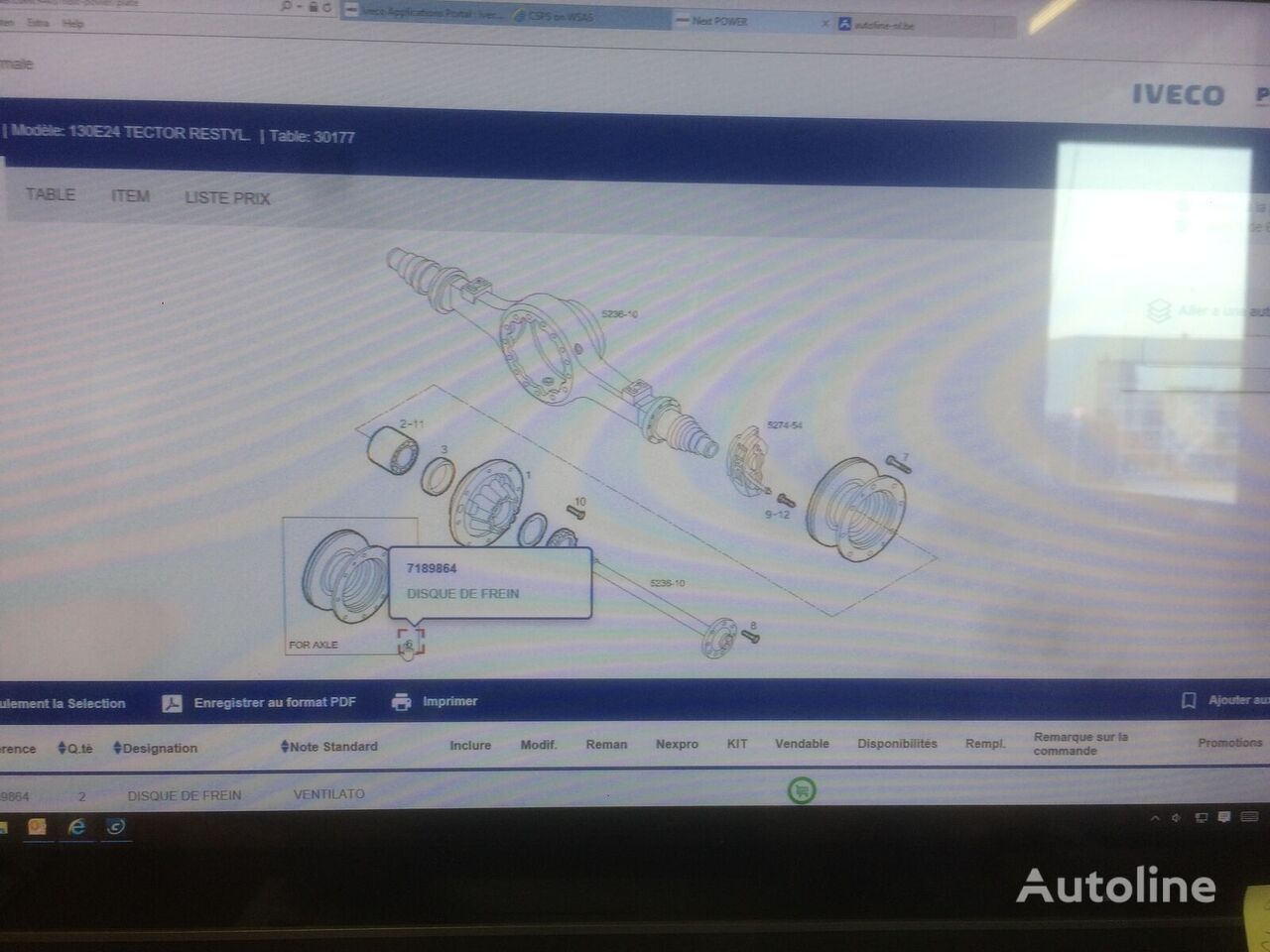 new IVECO brake disk for IVECO EUROCARGO ML130 truck