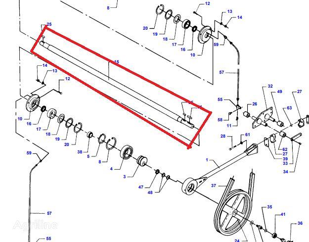 AGCO (D28480266) brake shaft for MASSEY FERGUSON D28480266 grain harvester