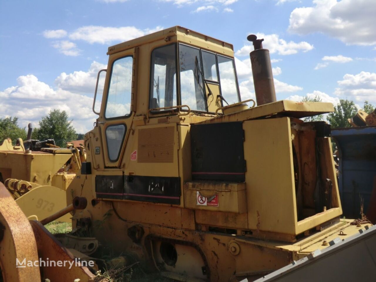 86G00985 FRAME AS WITH CAB AND HOODS chassis for CATERPILLAR 973 LGP   track loader