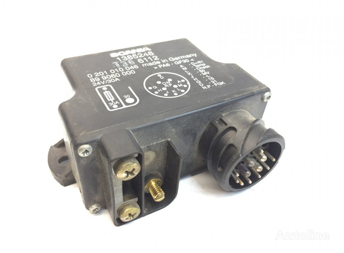 SCANIA Preheating Unit (1385248) control unit for SCANIA 4-series 94/114/124/144/164 (1995-2004) tractor unit