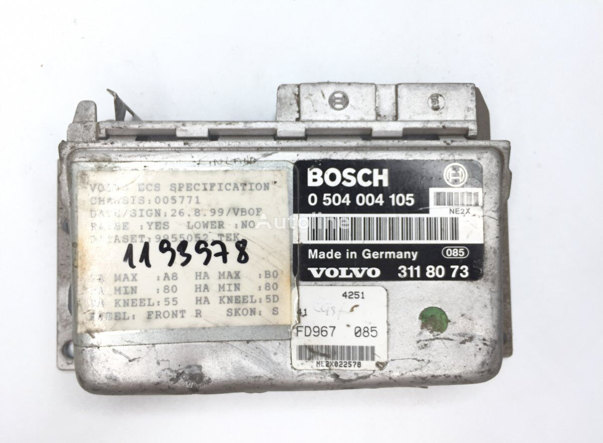 BOSCH B10B (01.78-12.01) control unit for VOLVO B6/B7/B9/B10/B12/8500/8700/9700/9900 bus (1995-) bus