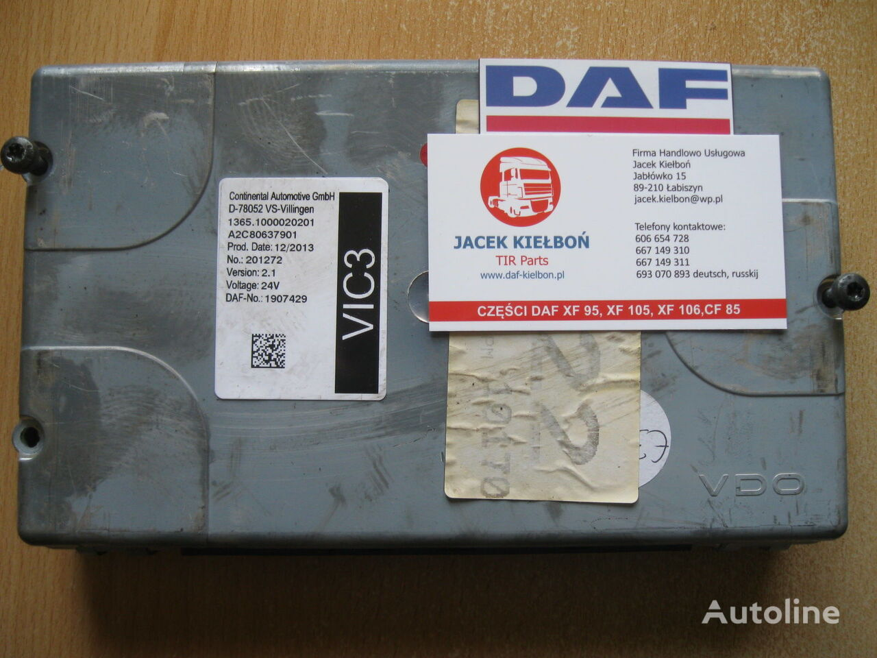 Continental STEROWNIK VIC 3 control unit for DAF XF 106 tractor unit