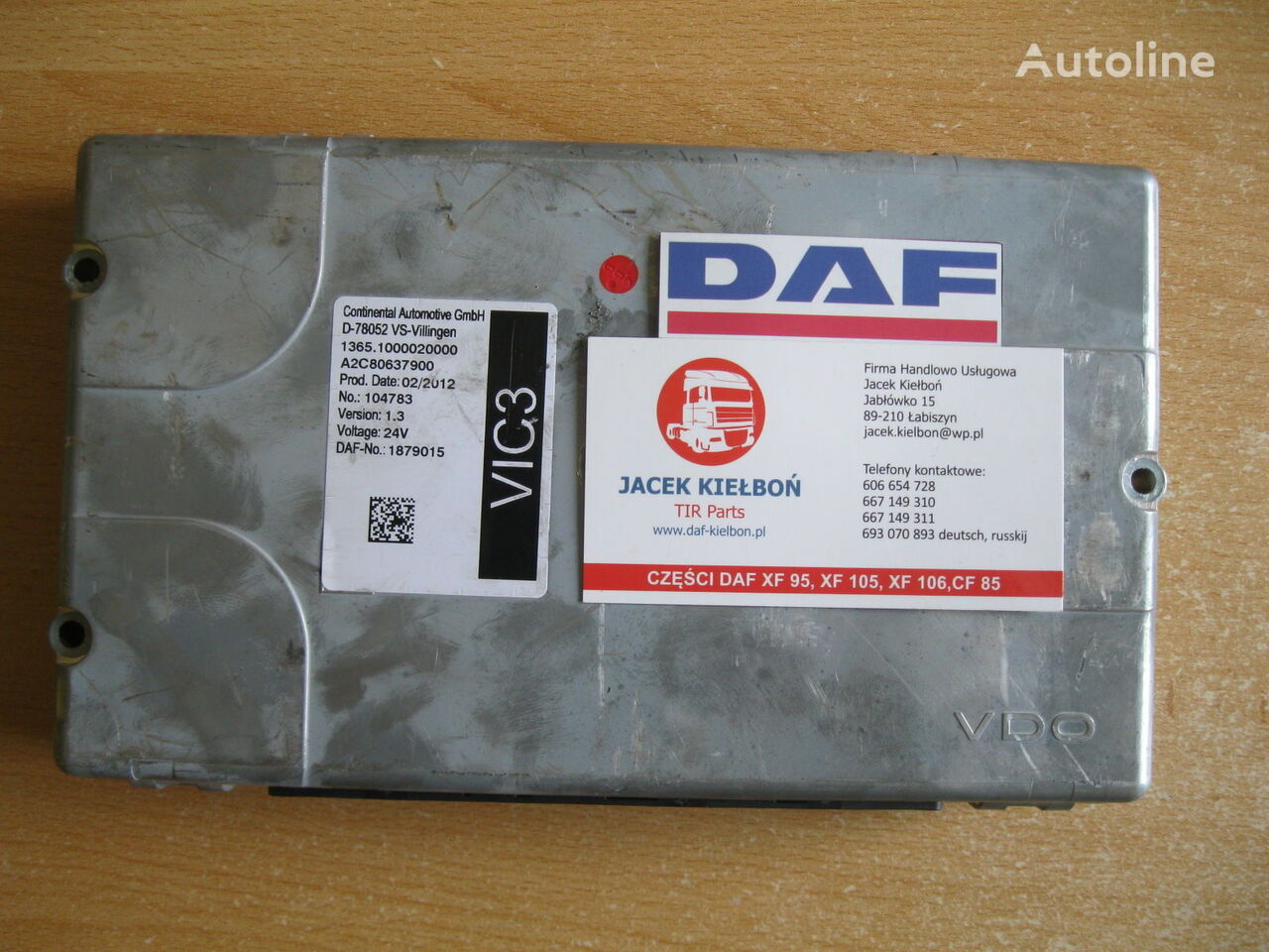 Continental STEROWNIK VIC 3 1.3 1.1 control unit for DAF XF 105 tractor unit