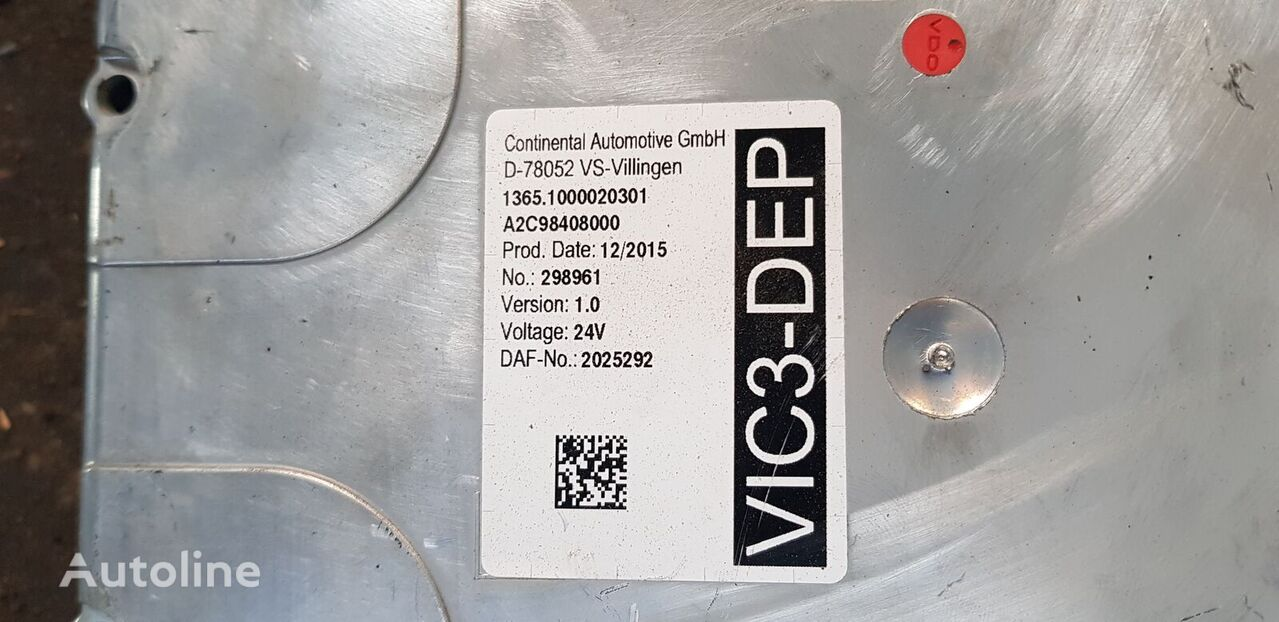 DAF 106 XF, XF, CF EURO 6 emission VIC3 - DEP unit, parameter contro control unit for DAF 106 XF , XF, CF EURO 6 tractor unit