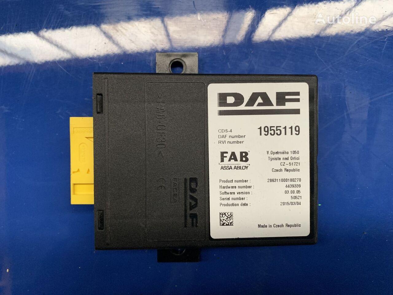 DAF FAB 1955119 control unit for DAF XF 106 tractor unit