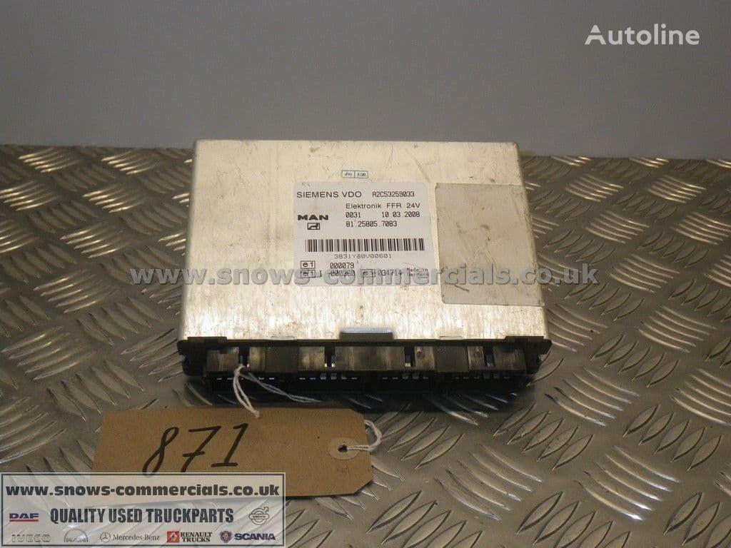 FFR ECU control unit for MAN TGX truck