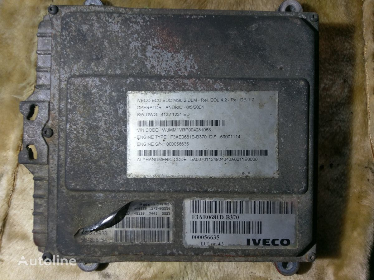 IVECO BOSCH 0281001527 000245923 505078154 control units for tractor
