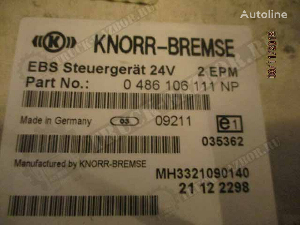 KNORR-BREMSE (21122298) control unit for RENAULT tractor unit