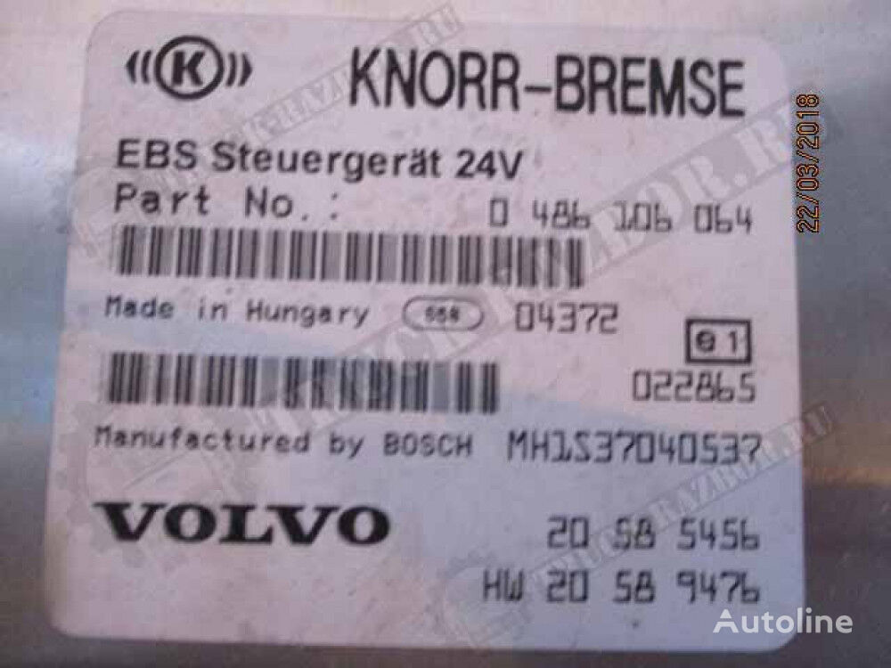 KNORR-BREMSE EBS (0486106064) control unit for VOLVO tractor unit