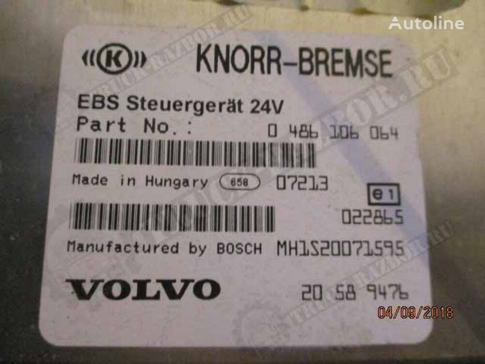 KNORR-BREMSE EBS control unit for VOLVO tractor unit