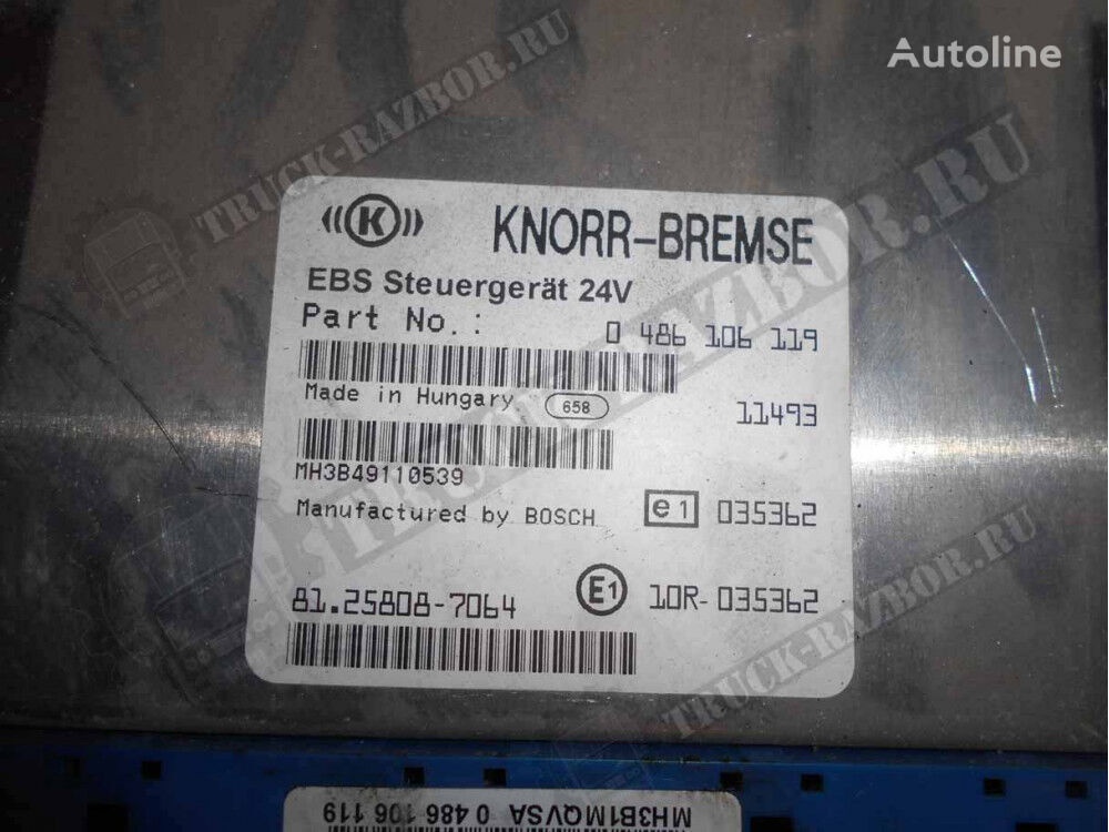 KNORR-BREMSE ECAS (81258087064) control unit for MAN tractor unit