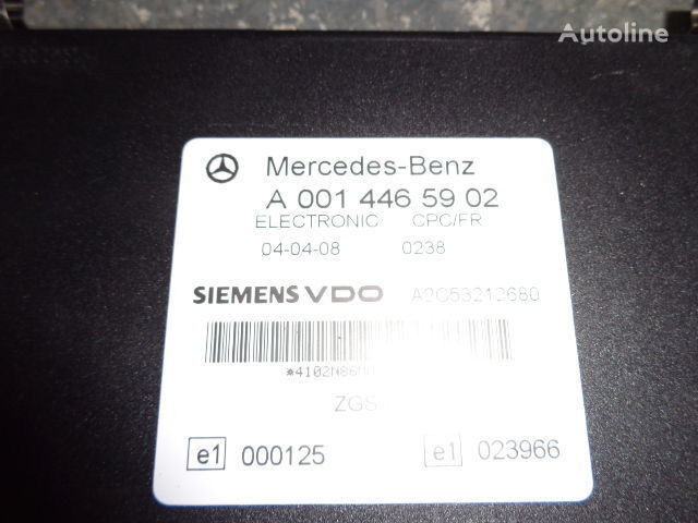 Mercedes Benz Actros MP2, MP3, MP4, FR control unit ECU 0014465902, 0004461346, 0004461746, 0004461446, 0004461846, 0014461502, 0014464302, 0024464302, 0024460202, 0014465502, 0024463202, 0024461302, 0024462902, 0024463402, 0034463502, 0024462602, 0024461 control unit for MERCEDES-BENZ Actros tractor unit