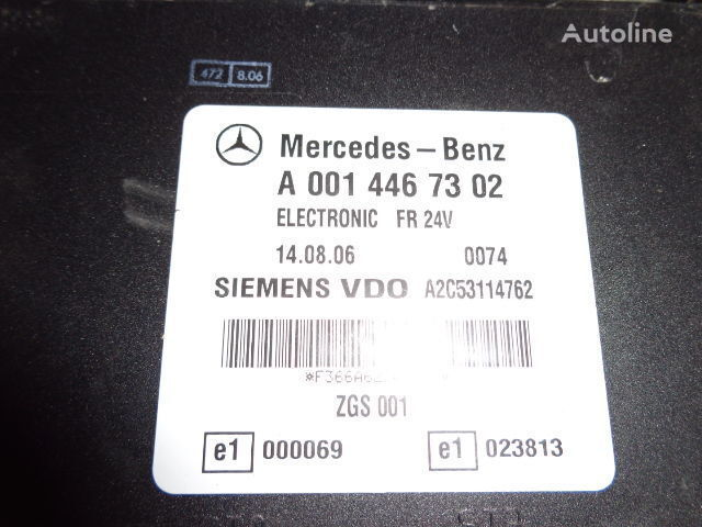 Mercedes Benz Actros MP2, MP3, MP4, FR control unit ECU 0014467302, 0014467302, 0004467502, 0014461002, 0014467402, 0004467602, 0004469602, 0014461302, 0014461402, 0014462602, 0014467002, 0014461902, 0014464102, 0014464002, 0024460102, 0014465402, 0024460 control unit for MERCEDES-BENZ Actros tractor unit
