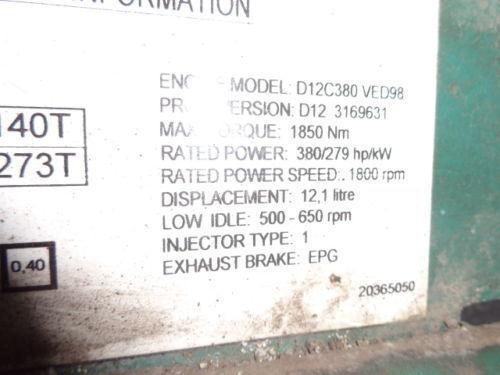 VOLVO D12C 380 HP engine computer EDC 20365050 ECU, 3169631, 3161952, control unit for VOLVO FH12 truck