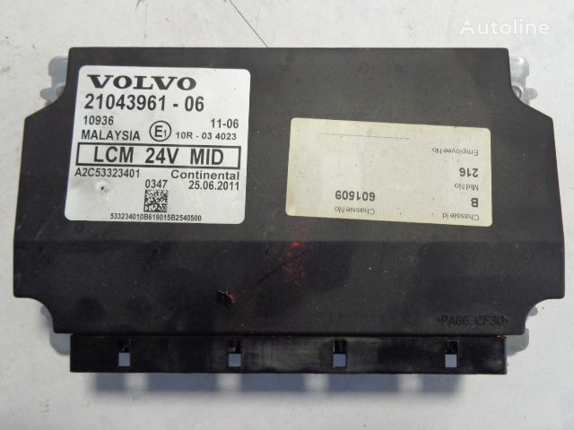 VOLVO LCM light control units 21043961, 20744283,20427169,20514900,207 control unit for VOLVO FH tractor unit