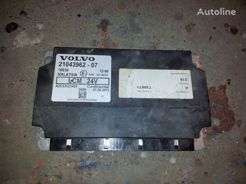 VOLVO LCM lightning control unit 21043962, 21043961, 85102471, 85 control unit for VOLVO FH13 tractor unit