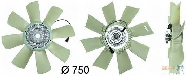new VOLVO 376 730-081.20765593.21382371.85000098.20981 cooling fan for VOLVO FH 12.13 truck