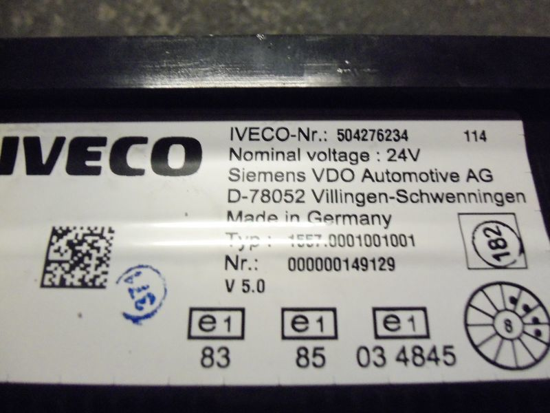 IVECO EURO5 instrument panel cluster 504276234, 504226363, 504025358, dashboard for IVECO Stralis tractor unit