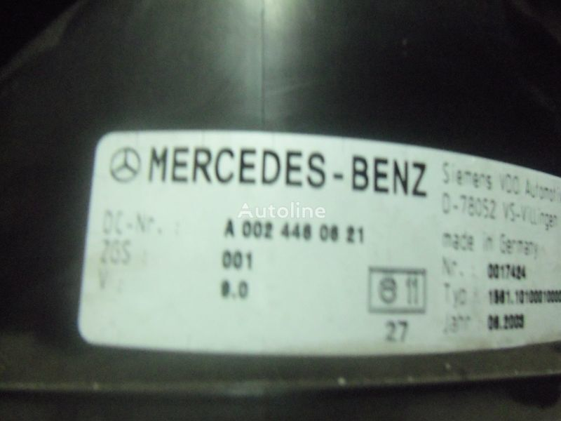 Mercedes Benz Actros MP2, MP3, MP4, INS electronic instrument panel 0024461321 cluster, 0024464321, 0024467421, 0024469921, 0034460521, 0044460621, 0044461821, 0014467021, 0024460721, 0024461421, 0024464421, 0024467521, 0034460021, 0034460621, 0044461921, dashboard for MERCEDES-BENZ Actros tractor unit