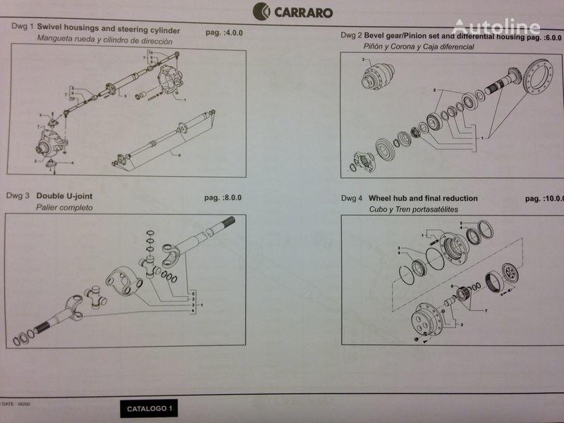 CARRARO drive axle for CATERPILLAR excavator