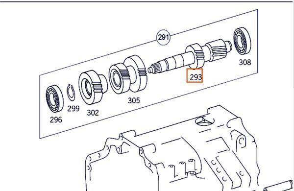 Arbol De Transmision Intermedio Mercedes-Benz Axor  2 - Ejes  Se (A 945 263 01 02) drive shaft for MERCEDES-BENZ Axor 2 - Ejes Serie / BM 944 1843 4X2 OM 457 LA [12,0 Ltr. - 315 kW R6 Diesel (OM 457 LA)] truck