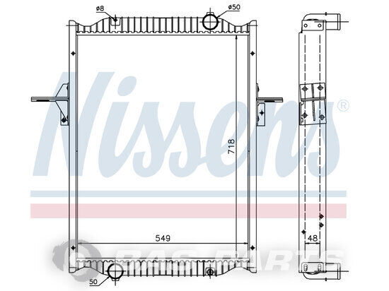 engine cooling radiator for truck