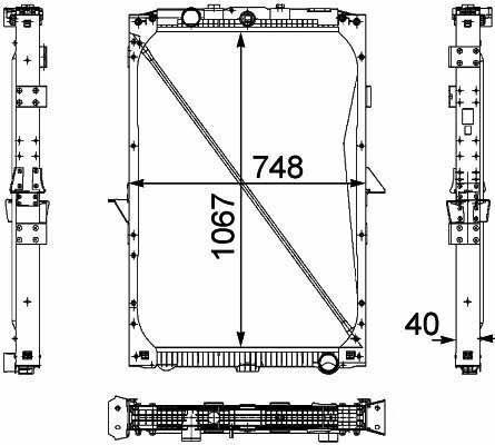 DAF 1674136. 1692332. 1739550 .1856628. 8MK376 733-7111861737. 18617 engine cooling radiator for DAF XF95.105XF truck