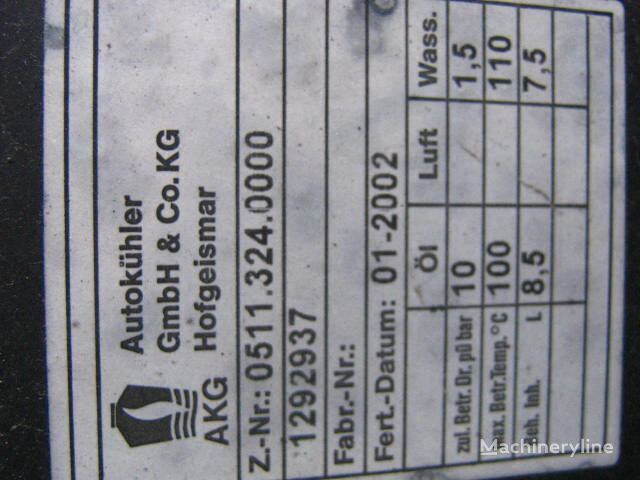 new O&K AKG HOFGEISMAR 5.113.240.000 engine cooling radiator for O&K excavator