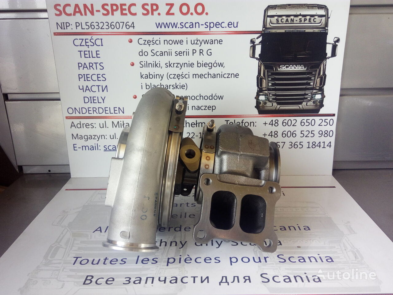 new SCANIA HX52 DT12 12/ DT12 17 HOLSET engine turbocharger for SCANIA P R G T tractor unit