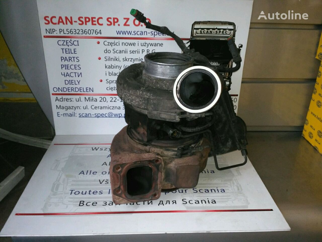 SCANIA Holset HE531Ve-1849535 engine turbocharger for SCANIA P R G tractor unit