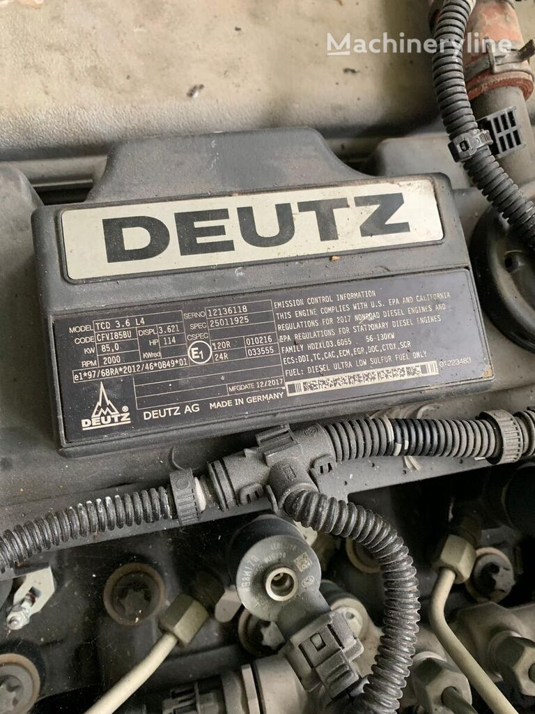 new DEUTZ TCD 3.4 L4 engine for trencher