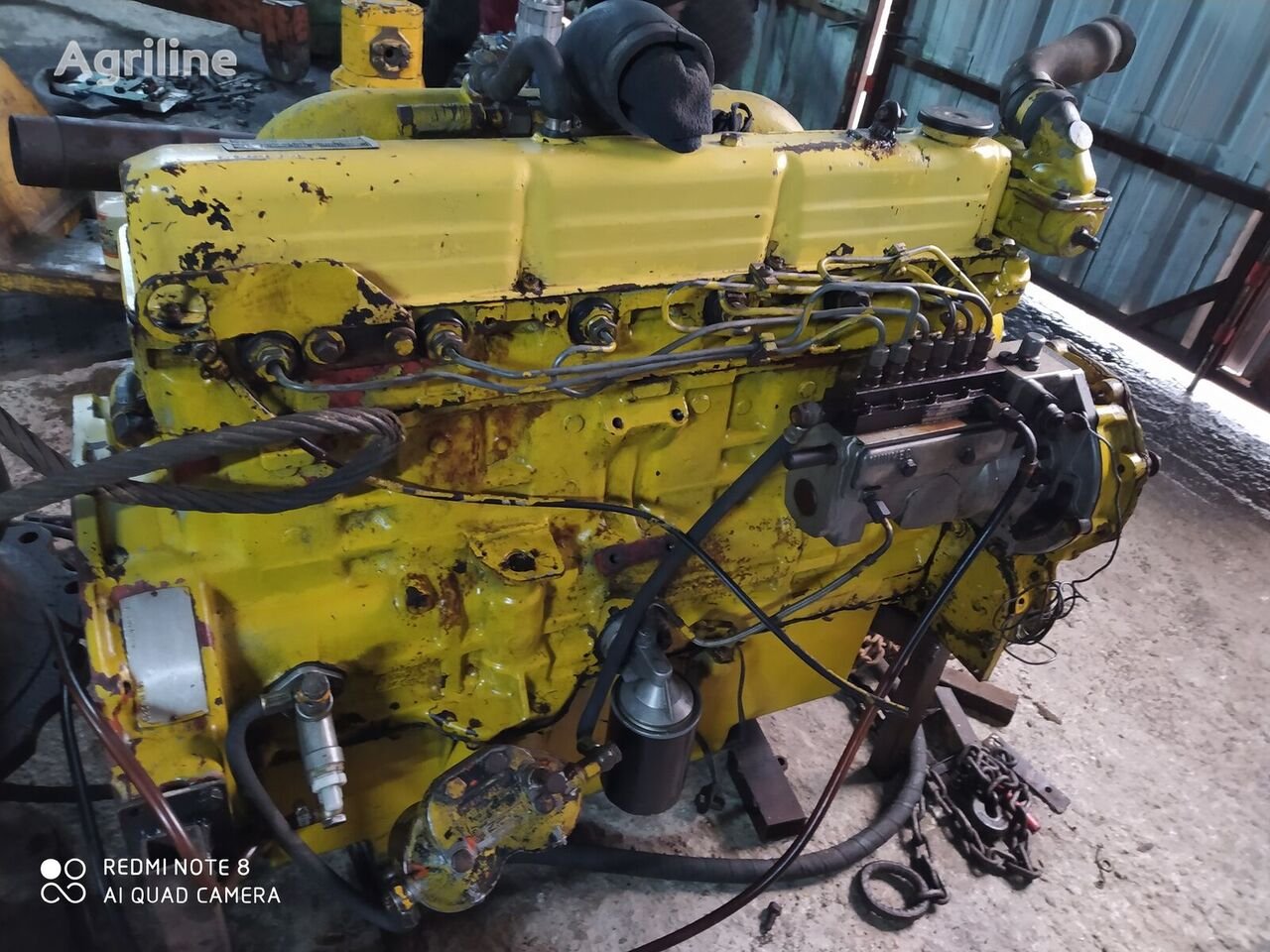 FORD marine type engine for NEW HOLLAND grain harvester