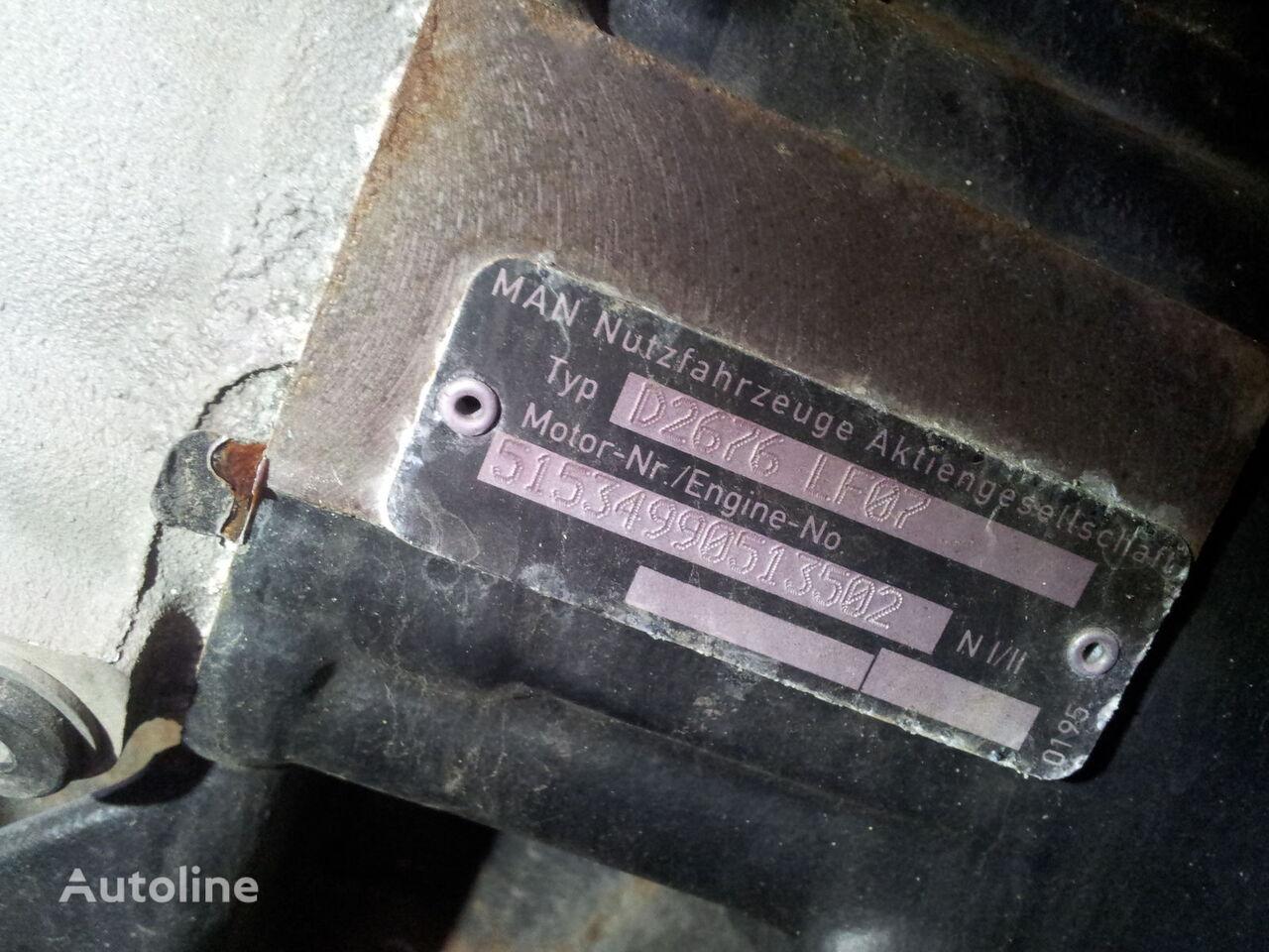 MAN TGX, TGS EURO 5 emission, 480 PS, type D2676LF07, 353 KW, engine engine for MAN TGX tractor unit