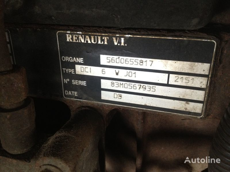 Renault dci 6v j01 engine for RENAULT 220.250.270 truck