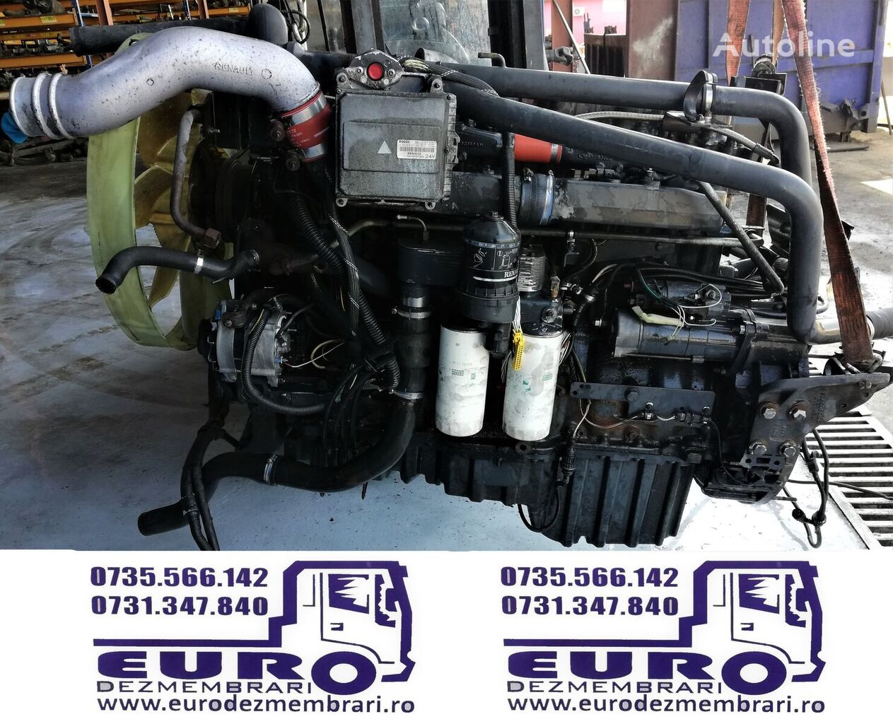 RENAULT MACK 440 - 480 cp engine for tractor unit