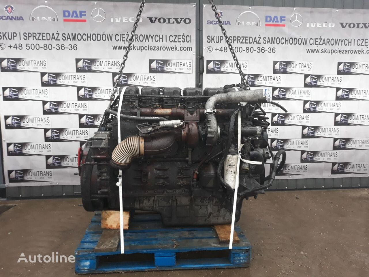 SCANIA DC1201, 420 KM engine for SCANIA tractor unit