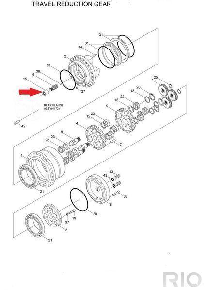Vtulka XKAH-00022 (Coupling) HYUNDAI Vtulka (Coupling) fasteners for HYUNDAI R140 LC-7 excavator