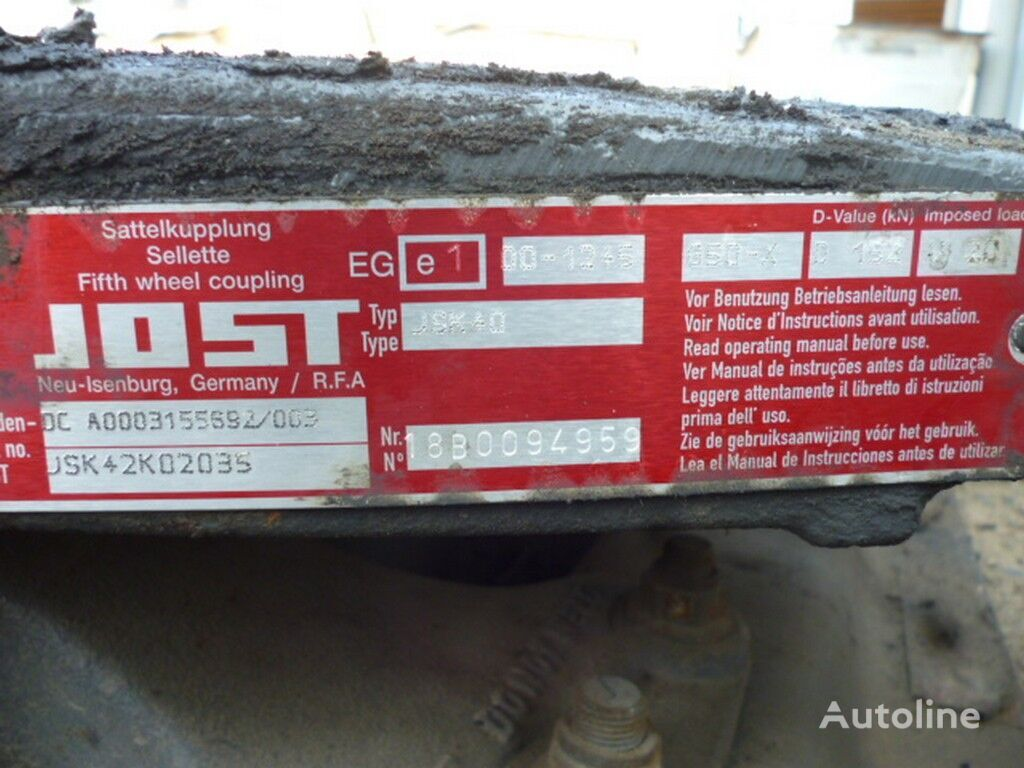 JOST V=150 D=880 Sh=405 fifth wheel for tractor unit