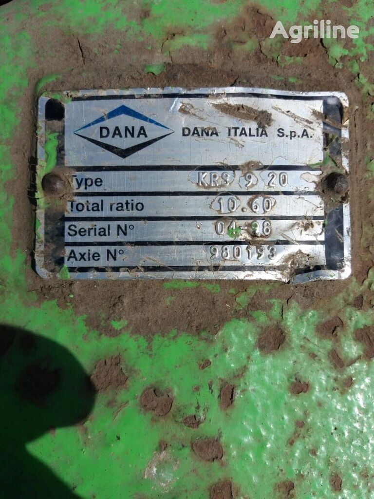 Dana KRS 9 20 final drive for DEUTZ-FAHR TOP LINER 4075 grain harvester