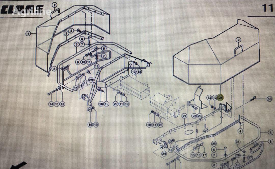 CLAAS 00 0922 371 2/ Corto kołpak ochrony lewy front fascia for grain harvester