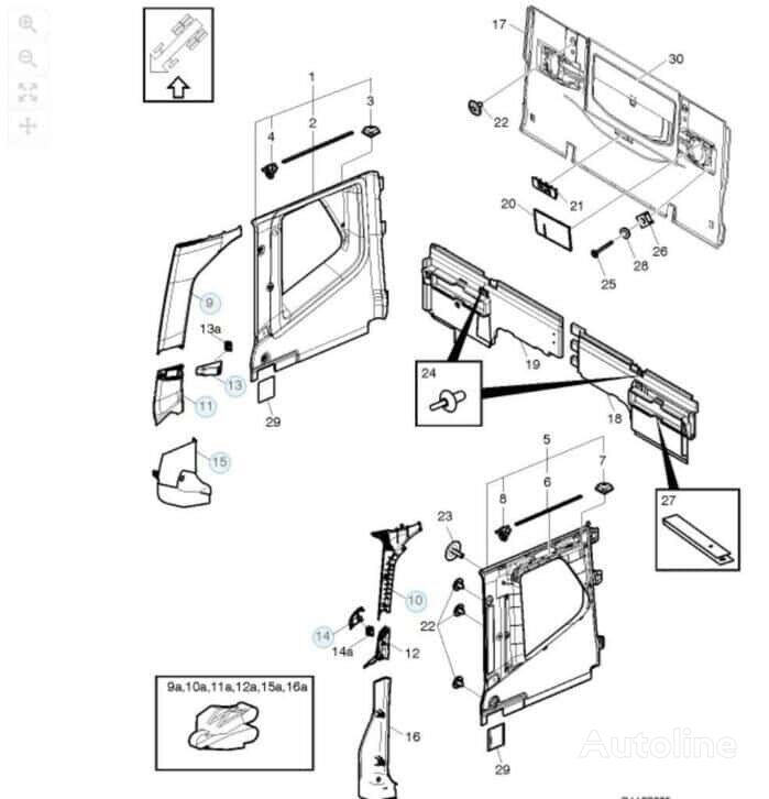 new VOLVO a-steun bekleding front fascia for VOLVO FH4  tractor unit