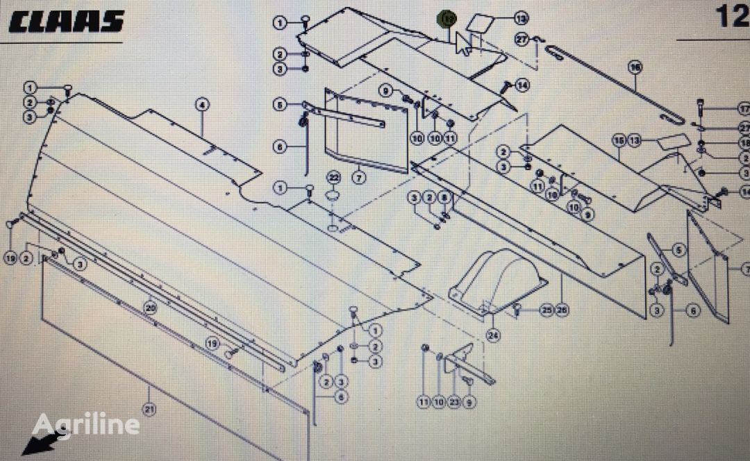 blacha osłony prawa/lewa front fascia for CLAAS Corto  grain header