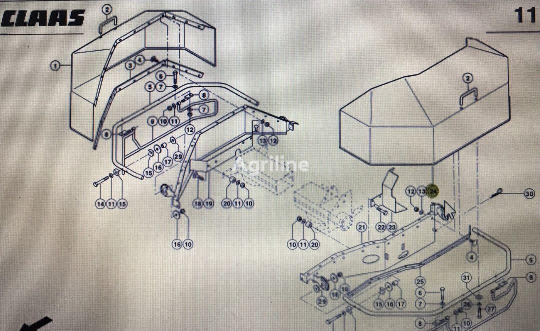 kołpak ochrony lewy (00 0922 371 2) front fascia for CLAAS Corto mower