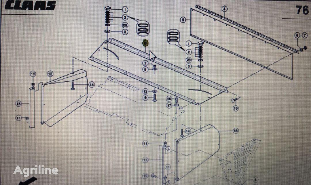 pokrywa tylna (00 0482 415 1) front fascia for CLAAS Disco  mower