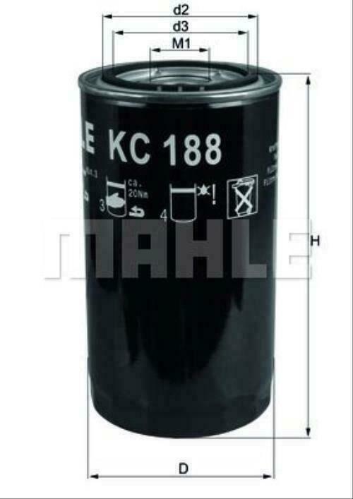 new MAHLE ORIGINAL (KC 188) fuel filter for IVECO DAF truck